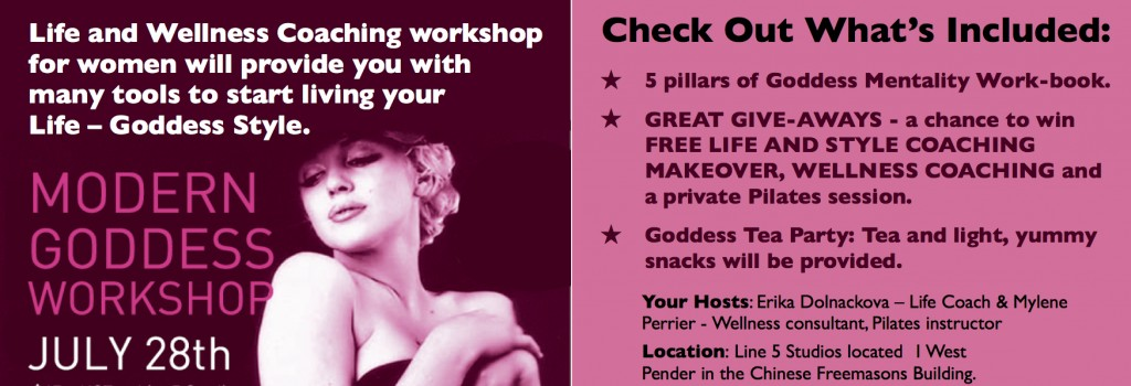 Life Coaching for women, workshops, Vancouver