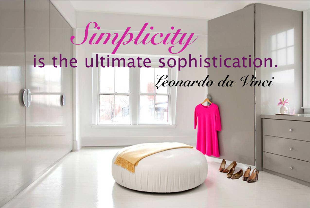 Simplicity, What to let go off in 2013